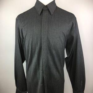 GIANNI CORTESE Mens XL 100% Wool Button Up Shirt